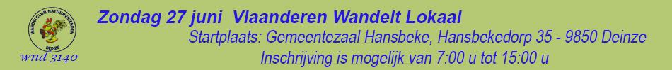 Banner Vlaanderen Wandelt Lokaal