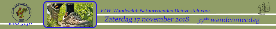2018 37ste Wandelmeedag